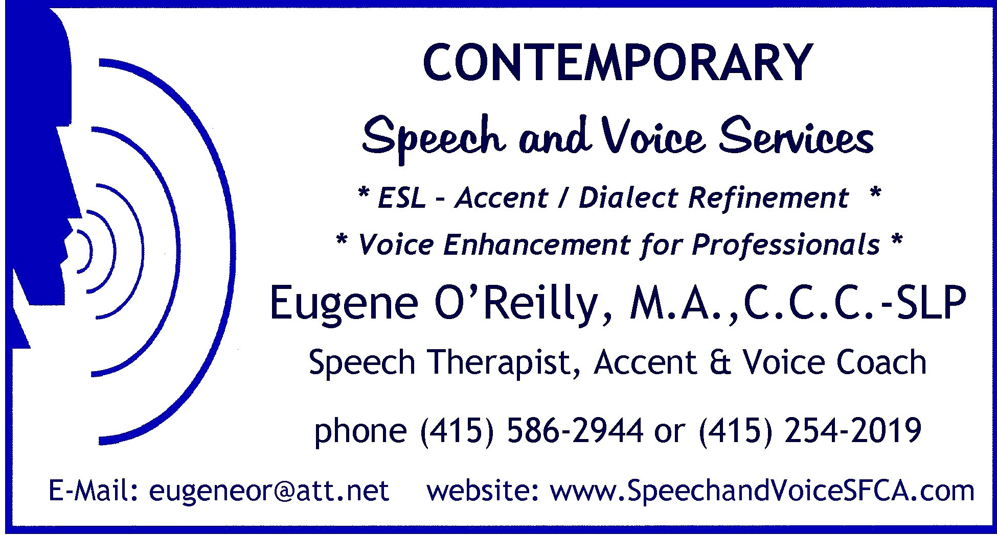 contemporary speech and voice services contact us